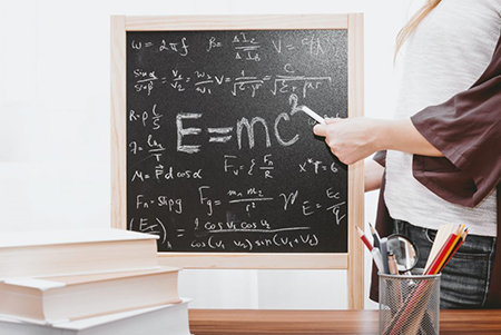 Why Star Ins Group | Equations on blackboard